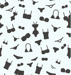 seamless pattern with swimwear for background vector image