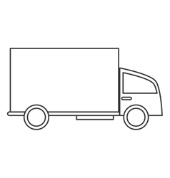 truck transport delivery shipping service vector image