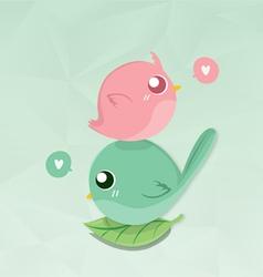 couples bird mini vector image