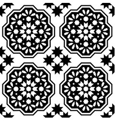 geometric seamless pattern moroccan tiles design vector image