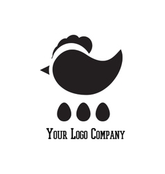 Cock sign branding corporate logo isolated vector image vector image