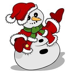 Snowman Santa Claus vector image