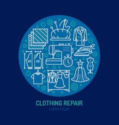 clothing repair alterations studio equipment vector image vector image