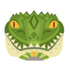 crocodile head logo alligator decorative vector image
