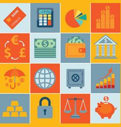 finance icons set infographics vector image