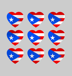 heart with puerto rico flag i love puerto rico vector image vector image