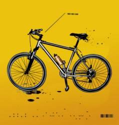 mountain bike vector image