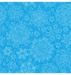 Seamless pattern of snowflakes Golden snowflakes vector image vector image