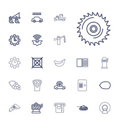 22 machine icons vector