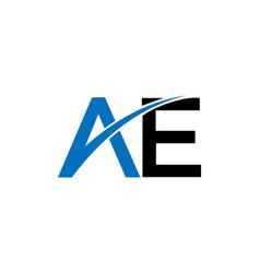 Ae letter business logo design vector