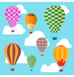Air Balloons Background vector