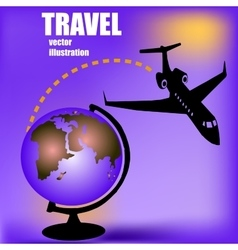 Aircratf and globus vector