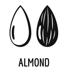 Almond icon simple style vector