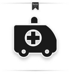 ambulance truck icon vector image