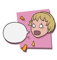 Angry shouting girl vector