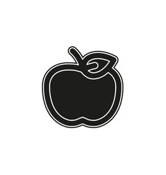 apple fruit fresh healthy food vector image