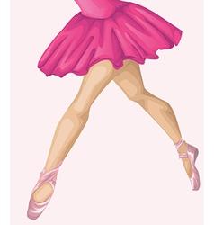 Ballerinas leg vector image