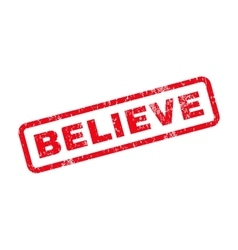 Believe Text Rubber Stamp vector