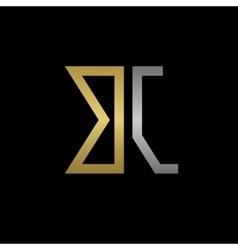 Bj letters logo vector