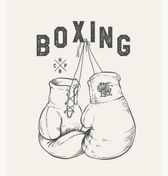 boxing gloves print design t-shirt vector image