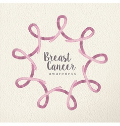 Breast cancer awareness design made with ribbons vector