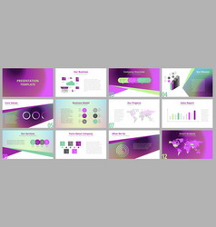 Business presentation templates vector
