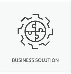 business solution line icon on white background vector image