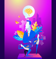 business team office work concept vector image
