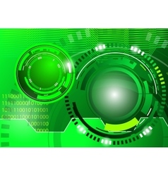 Circle green abstract techno background vector