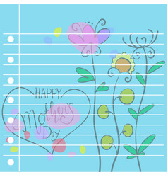 Collection of mother day card style vector