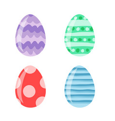 Colored easter eggs pattern with different style vector