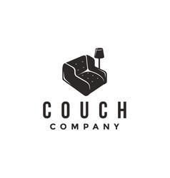 comfortable couch logo icon interior logo vector image