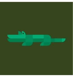 Crocodile style flat geometric design Animal vector