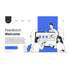 customer review rating people give review rating vector image