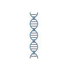 dna molecular structure sign or symbol flat vector image
