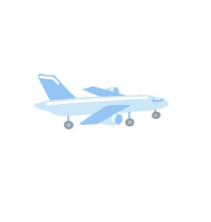 Doodle flat icon airplane vector