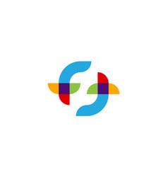 Double letter f logo design concept vector