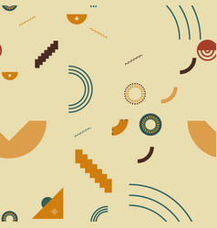 elementary shapes chaotic seamless pattern vector image
