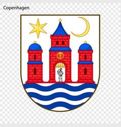 Emblem of city of denmark vector