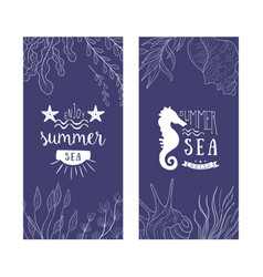 enjoy summer sea banner templates set summer time vector image