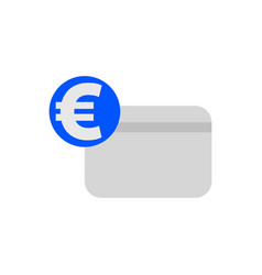 euro credit card icon vector image