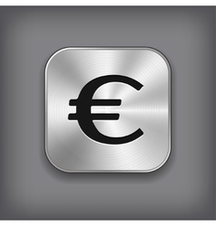 Euro icon - metal app button vector