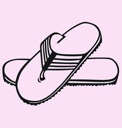flip-flop sandals vector image