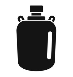 Gold water flask icon simple style vector