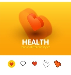 Health icon in different style vector image