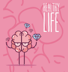 Healthy life and brain vector