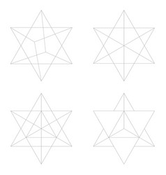 Icon with kabbalah symbol merkaba for your vector