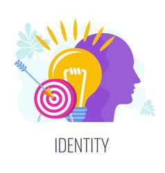 Identity infographics pictogram distinctive vector