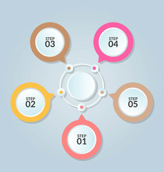infographic template circle connection for use vector image