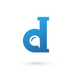 Letter D speech bubble logo icon design template vector